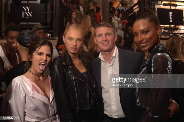 Host of E's The Rundown Erin Lim Romee Strijd Stephen Thompson and Jasmine Tookes attend the NYFW Kickoff Party A Celebration Of Personal Style...
