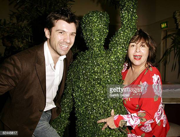 Host of Good Food Live Jeni Barnett and celebrity chef Danny Boome attend the launch of the new 10th channel for UKTV Spring Gardens at Sketch on...