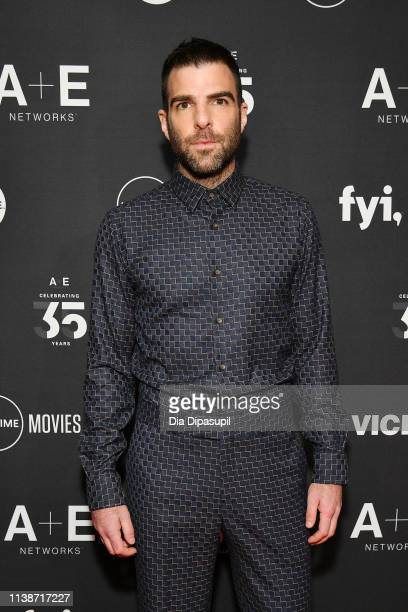 Host of History's 'In Search Of' Zachary Quinto attends the 2019 A+E Networks Upfront at Jazz at Lincoln Center on March 27, 2019 in New York City.