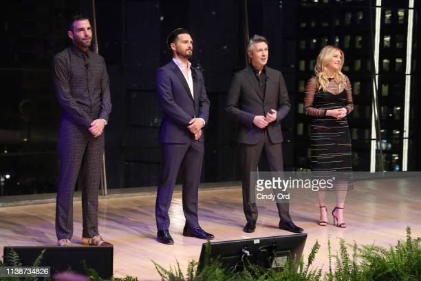 Host of History's 'In Search Of' Zachary Quinto Michael Malarkey and Aidan Gillen of History's 'Project Blue Book' and Katheryn Winnick of History's...