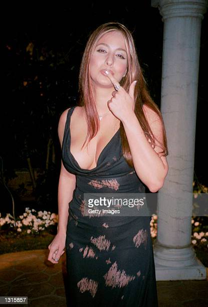 Host of Lente Loco Odalys Garcia attends the Don Francisco gala June 8 2001 in Beverly Hills CA Don Francisco is the talk show host for the popular...