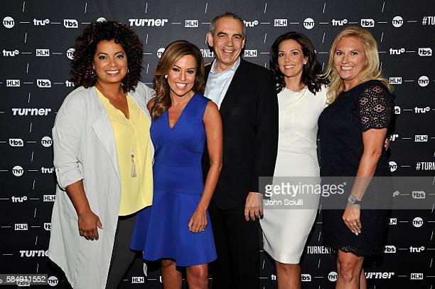 """Host of """"Morning Express"""" Robin Meade, Host of """"Michaela"""" Michaela Pereira, CNN U.S. EVP Ken Jautz, new HLN host Erica Hill and VP of HLN..."""