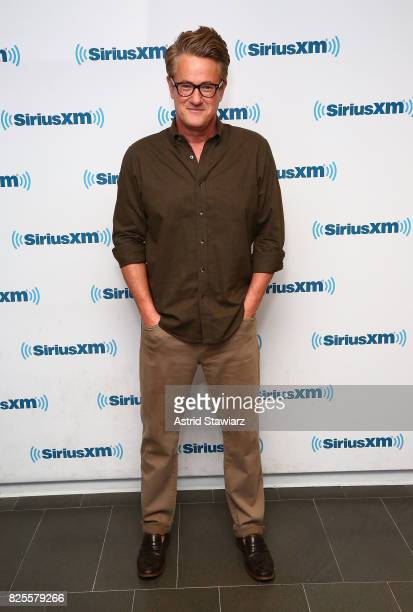 Host of MSNBC's Morning Joe Joe Scarborough visits the SiriusXM Studios on August 2 2017 in New York City