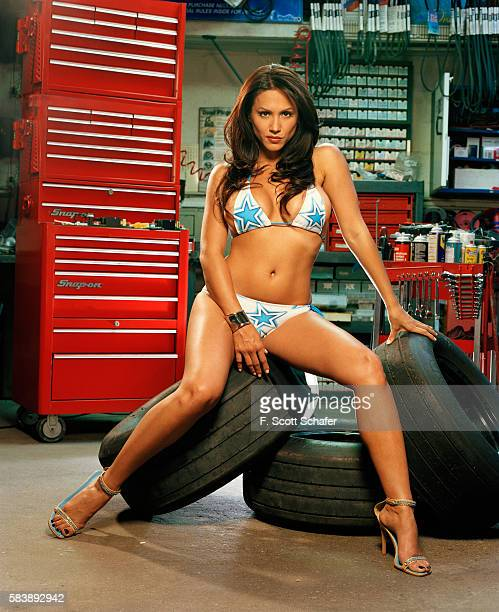 Host of NASCAR Nation Leeann Tweeden is photographed for Stuff Magazine in 2005 in Los Angeles California PUBLISHED IMAGE