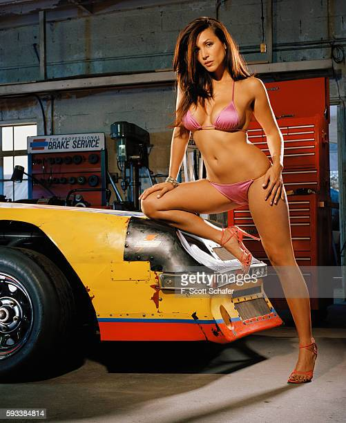 Host of NASCAR Nation Leeann Tweeden is photographed for Stuff Magazine in 2005 in Los Angeles California