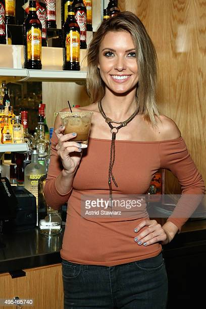 Host of NBC's 1st look Audrina Patridge enjoyed her signature Kahlúa cocktail Audrina's Milk and Cookies at Genuine Liquorette in New York City