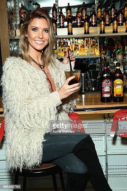 Host of NBC's 1st look Audrina Patridge mixed up classic Kahlúa holiday cocktails at Genuine Liquorette in New York City