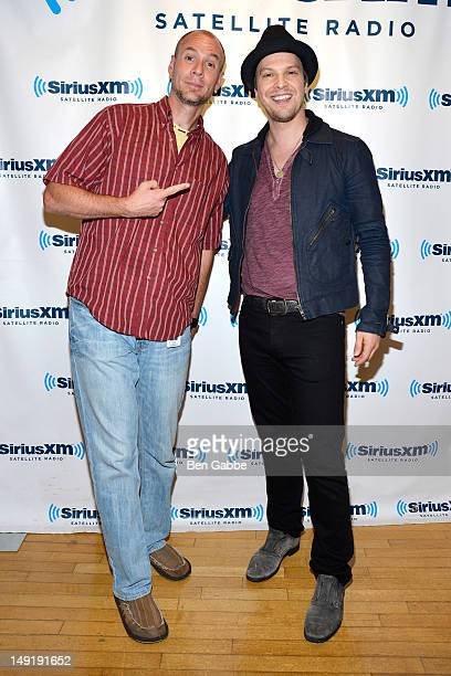 Host of SiriusXM's Kids Place Live Kenny Curtis and Gavin DeGraw attend the KIDZ Star USA Live Audition event at SiriusXM Studios on July 24 2012 in...