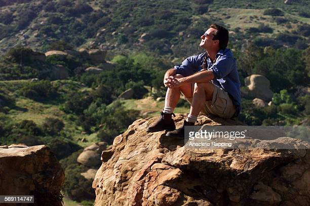 CA0423probst3AR Jeff Probst host of the popular 'Survivor' television show was photographed at Stoney Point Park in Chatsworth on 4/23/01 Probst is...