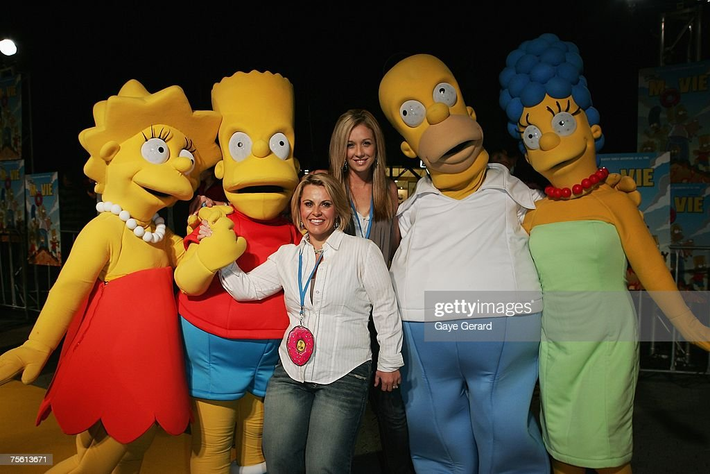 TV Host of 'The Biggest Loser' Ajay Rochester and TV Host of 'Big Brother' Bree Amer arrives on the yellow carpet at 'The Simpsons Movie' Australian premiere at Hoyts Entertainment Quarter, Moore Park on July 24, 2007 in Sydney, Australia.