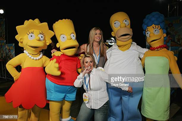 Host of The Biggest Loser Ajay Rochester and TV Host of Big Brother Bree Amer arrives on the yellow carpet at The Simpsons Movie Australian premiere...
