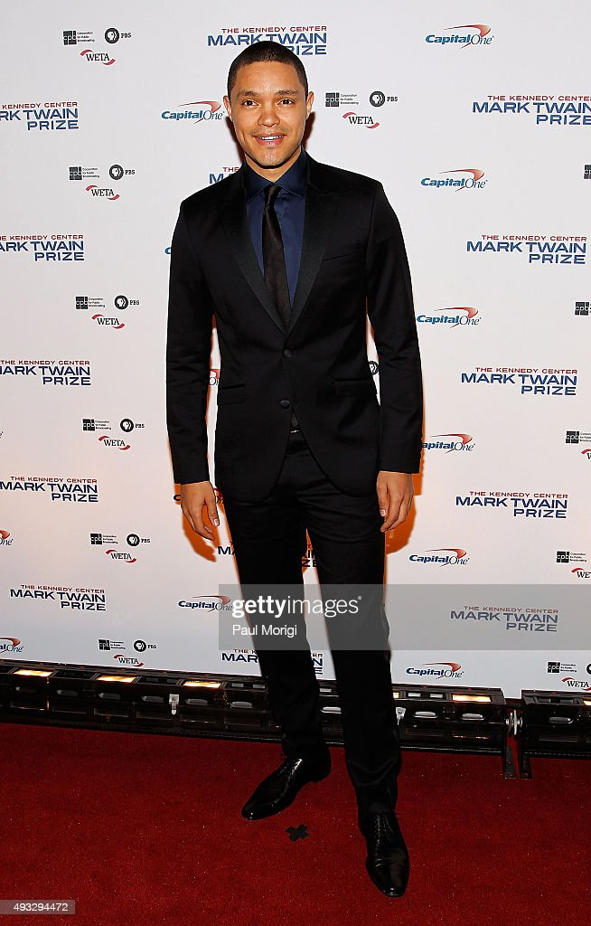 Host of the Daily Show Trevor Noah attends the 18th Annual Mark Twain Prize for Humor at The John F. Kennedy Center for Performing Arts on October 18, 2015 in Washington, DC.