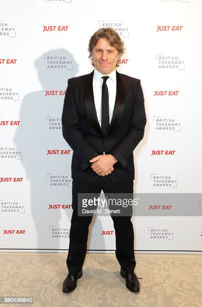Host of the evening John Bishop at the British Takeaways Awards in association with Just Eat at The Savoy Hotel on November 27 2017 in London England...