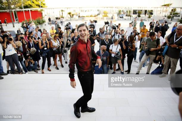 Host of the festival Michele Riondino attends a photocall ahead of the 75th Venice Film Vestival at Palazzo del Casino on August 28 2018 in Venice...