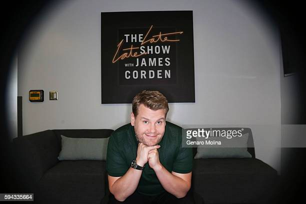 Host of 'The Late Late Show' James Corden is photographed for Los Angeles Times on July 26 2016 in Los Angeles California PUBLISHED IMAGE CREDIT MUST...