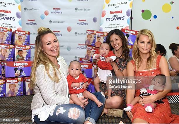Host of The Real Girl's Kitchen Haylie Duff helps donate 400000 diapers during Diaper Need Awareness Week to Baby2Baby families in need at Huggies...