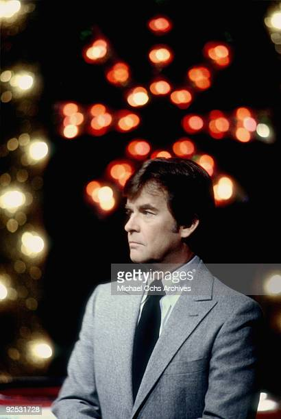 Host of the television series 'American Bandstand' Dick Clark poses for a portrait in 1980 in Los Angeles California
