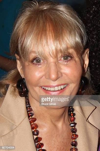 Host of The View Barbara Walters poses backstage at Xanadu on Broadway at The Helen Hayes Theater on September 6 2008 in New York City