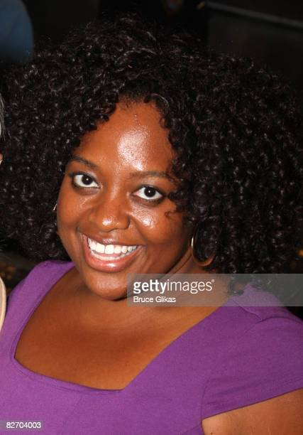 Host of The View Sherri Shepherd poses backstage at Xanadu on Broadway at The Helen Hayes Theater on September 6 2008 in New York City