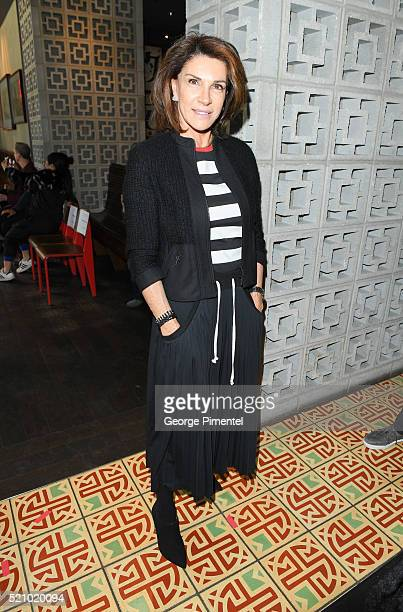"""Host of TV series """"Love it or List it"""" Hilary Farr attends the launch of Coco Rocha's line """"CO+CO"""" In Canada at Lukee Restaurant on April 13, 2016 in..."""
