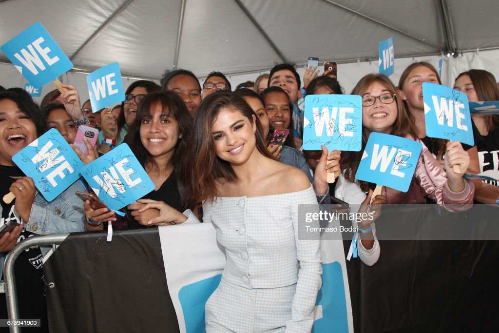 Host of WE Day California, actress/singer and UNICEF Goodwill Ambassador Selena Gomez attends WE Day California to celebrate young people changing the world at The Forum on April 27, 2017 in Inglewood, California.