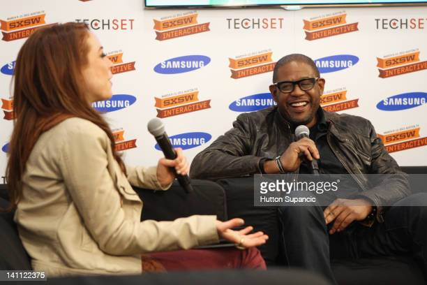 Host of What's Trending Shira Lazar and actor Forest Whitaker speak suring Samsung Blogger Lounge - 2012 SXSW Music, Film + Interactive Festival at...