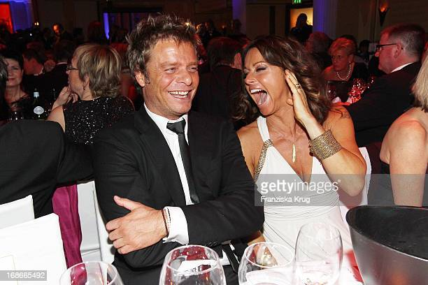 TV host Oliver Geissen and wife Christina 'Tini' Plate at 37th German Film Ball at Hotel Bayerischer Hof in Munich on 160110