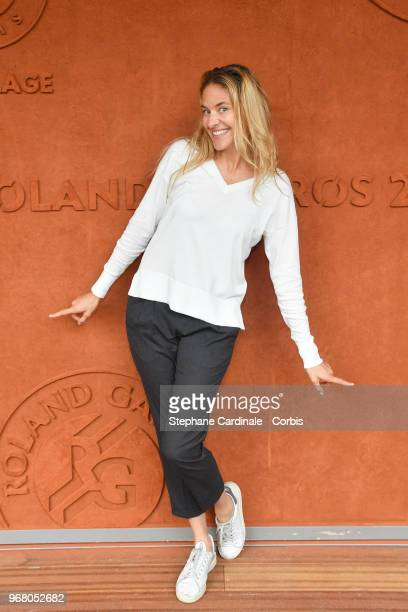 Host Olivia De Buhren attends the 2018 French Open Day Ten at Roland Garros on June 5 2018 in Paris France