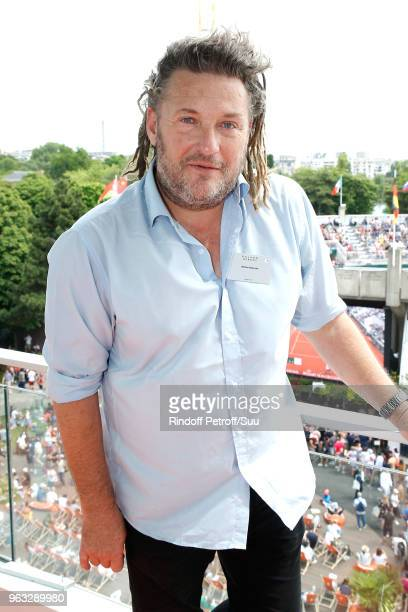 Host Olivier Delacroix attends the 'France Television' Lunch during the 2018 French Open Day Two at Roland Garros on May 28 2018 in Paris France