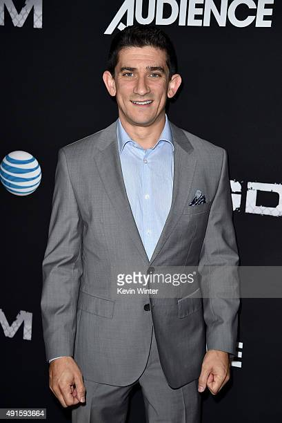 Host on NFL Sunday Ticket Red Zone Andrew Siciliano attends the premiere of DIRECTV's 'Kingdom' Season 2 at SilverScreen Theater at the Pacific...