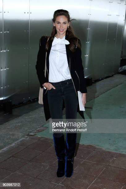 Host Ophelie Meunier attends the Vendorama Exhibition as Boucheron Celebrates its 160th Anniversary at Monnaie de Paris on January 11 2018 in Paris...