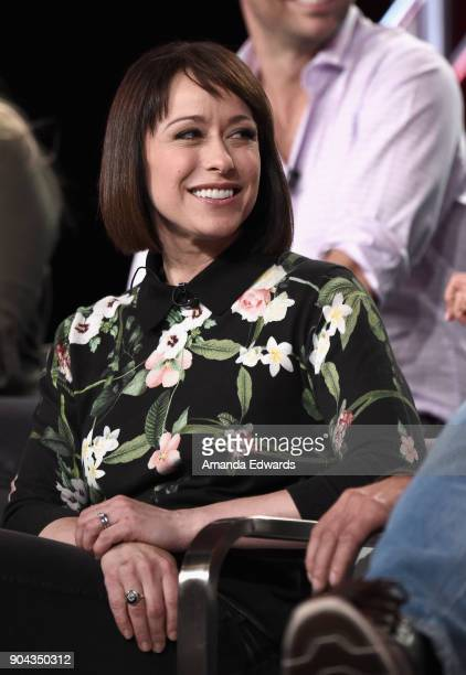 Host Paige Davis of 'Trading Spaces' onstage during the TLC portion of the Discovery Communications Winter TCA Event 2018 at the Langham Hotel on...