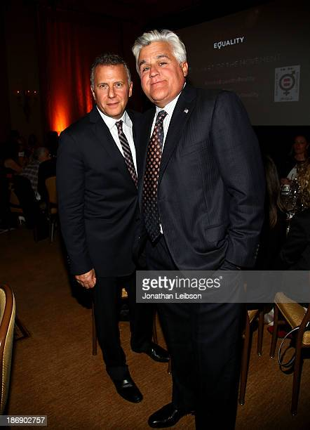 Host Paul Reiser and Jay Leno attend Equality Now presents Make Equality Reality at Montage Hotel on November 4 2013 in Los Angeles California