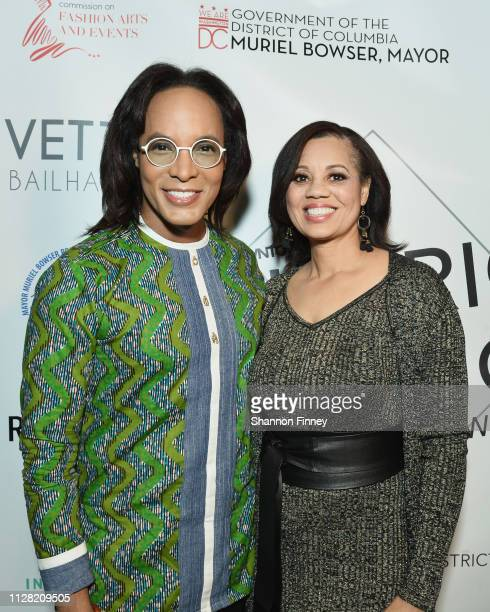 Host Paul Wharton and Angie M Gates Director of the Office of Cable Television Film Music and Entertainment at the District of Fashion Fall/Winter...