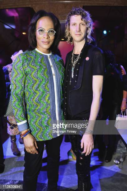 Host Paul Wharton and Jacob Lahr Director for the Saint Laurent Tyson's Galleria store at the District of Fashion Fall/Winter 2019 Runway Show on...