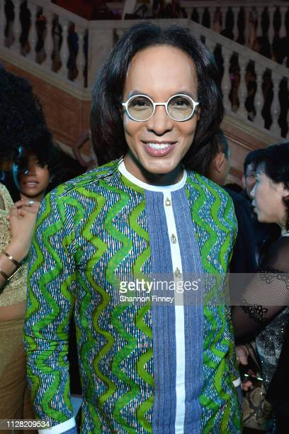 Host Paul Wharton at the District of Fashion Fall/Winter 2019 Runway Show on February 07 2019 at the National Museum of Women in the Arts in...