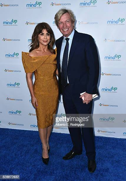 TV host Paula Abdul and producer Nigel Lythgoe attend Goldie Hawn's Annual Goldie's Love In For Kids on May 06 2016 in Beverly Hills California