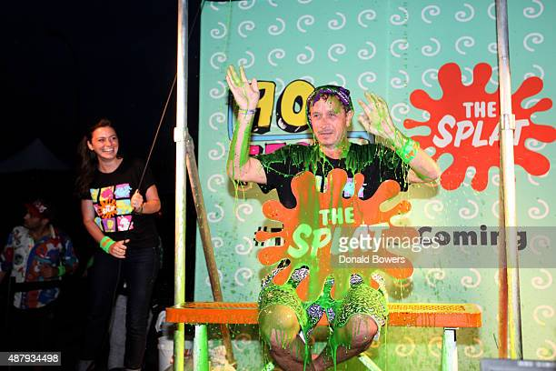 Host Pauly Shore gets slimed at the Nickelodeon sponsored 90sFEST Pop Culture and Music Festival on September 12 2015 in Brooklyn New York