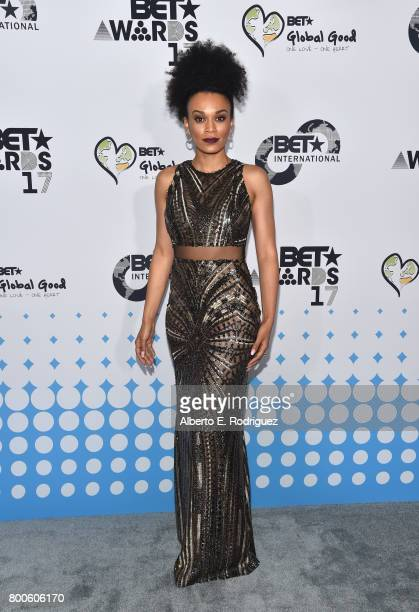 Host Pearl Thusi attends the 2017 BET International Awards Presentation at Microsoft Theater on June 24 2017 in Los Angeles California