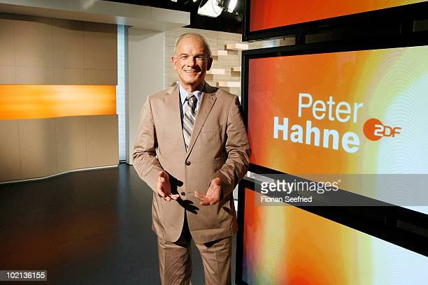 TV host Peter Hahne attends a Photocall for his new ZDF talkshow 'Peter Hahne' at the new Talkshow Set on June 16 2010 in Berlin Germany