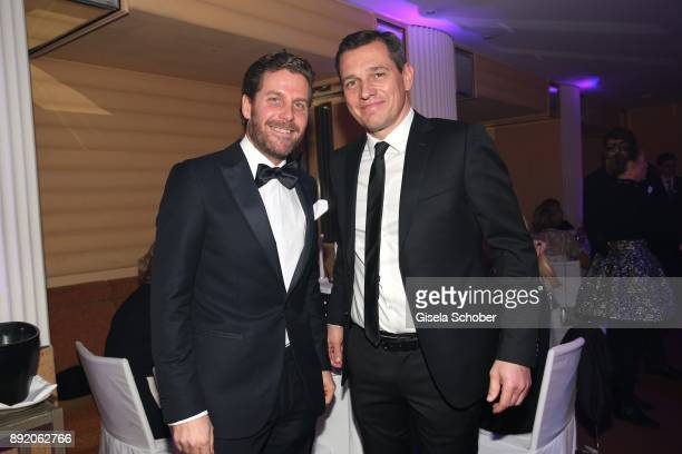 Host Philip Greffenius and Michael Mronz during the Audi Generation Award 2017 at Hotel Bayerischer Hof on December 13 2017 in Munich Germany
