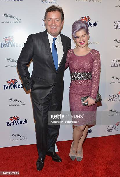 TV host Piers Morgan and TV personality Kelly Osbourne arrive to BritWeek 2012's 'Evening with Piers Morgan' on May 4 2012 in Beverly Hills California