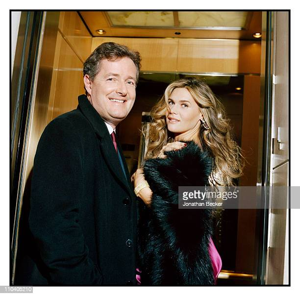 Host Piers Morgan and wife Celia Walden are photographed for Tatler Magazine in New York City Published image