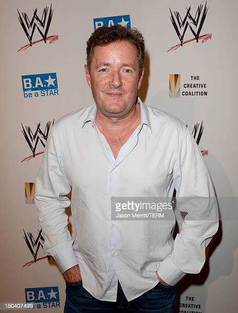 Host Piers Morgan attends the WWE SummerSlam VIP Kick-Off Party at Beverly Hills Hotel on August 16, 2012 in Beverly Hills, California.