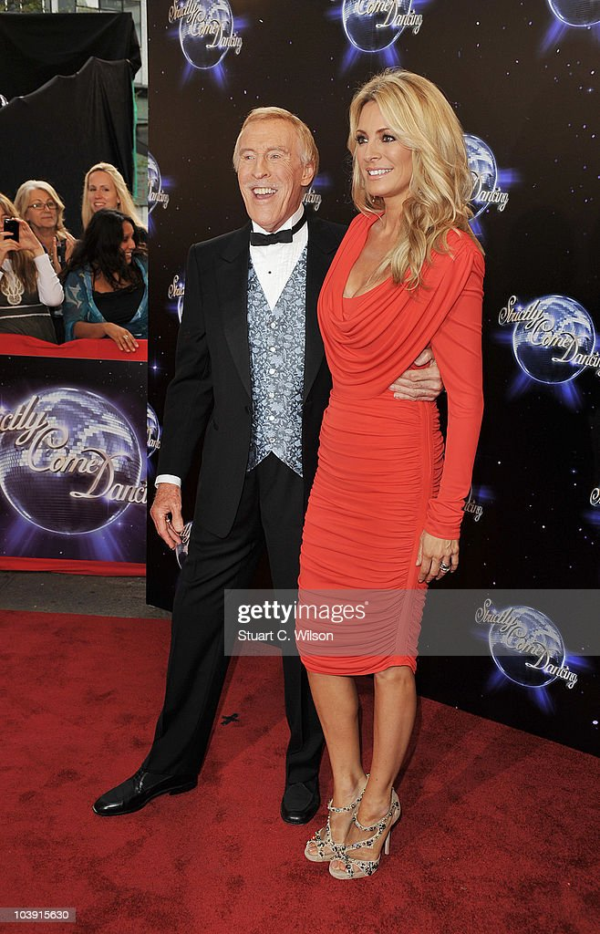 Host presenters Bruce Forsyth and Tess Daly attend the 'Strictly Come Dancing' Season 8 Launch Show at BBC Television Centre on September 8, 2010 in London, England.