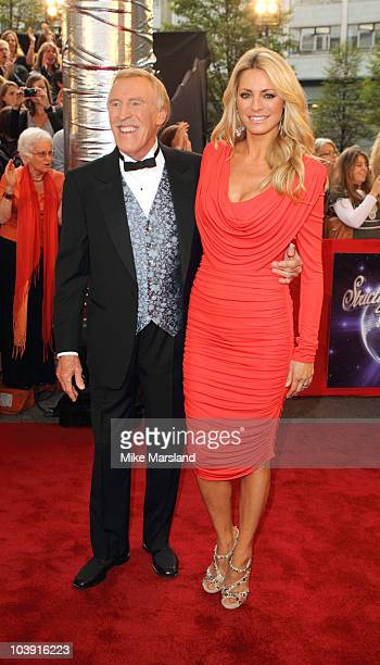 Host presenters Bruce Forsyth and Tess Daly attend the 'Strictly Come Dancing' Series 8 Launch Show at BBC Television Centre on September 8 2010 in...