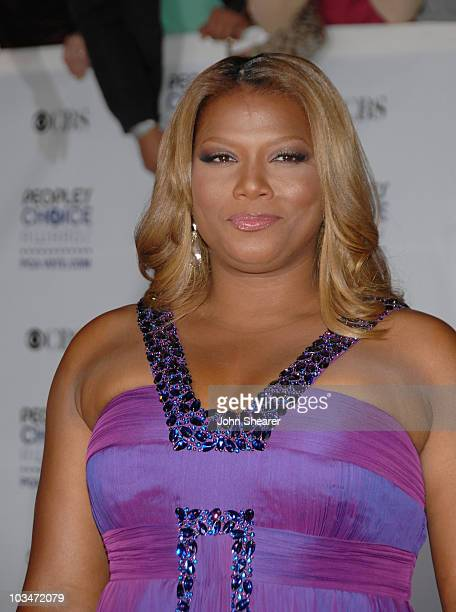 Host Queen Latifah arrives at the 35th Annual People's Choice Awards held at the Shrine Auditorium on January 7 2009 in Los Angeles California