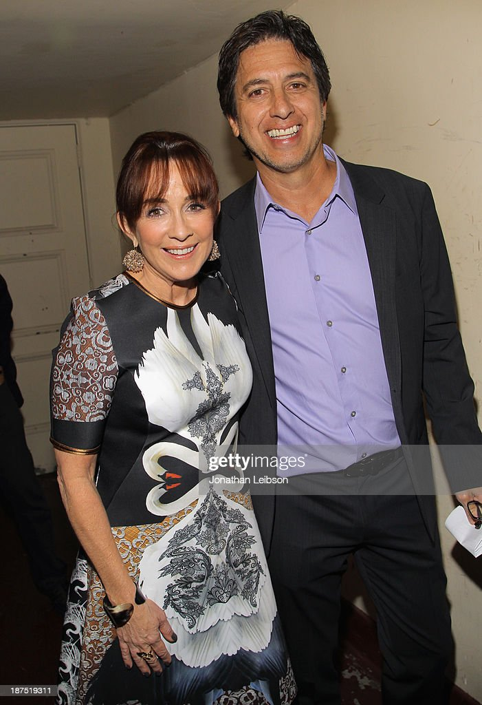 Host Ray Romano (R) and IMF Honorary Committee Member Patricia Heaton attend the International Myeloma Foundation's 7th Annual Comedy Celebration Benefiting The Peter Boyle Research Fund hosted by Ray Romano at The Wilshire Ebell Theatre on November 9, 2013 in Los Angeles, California.