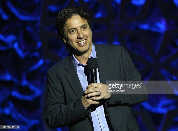 Host Ray Romano speaks onstage during the International Myeloma Foundation's 7th Annual Comedy Celebration Benefiting The Peter Boyle Research Fund...
