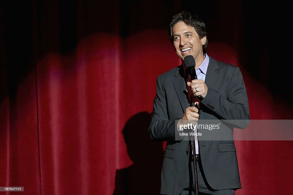 Host Ray Romano speaks onstage during the International Myeloma Foundation's 7th Annual Comedy Celebration Benefiting The Peter Boyle Research Fund hosted by Ray Romano at The Wilshire Ebell Theatre on November 9, 2013 in Los Angeles, California.